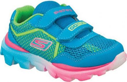 Skechers LIL RACER Trainers (Blue/Lime/Pink)